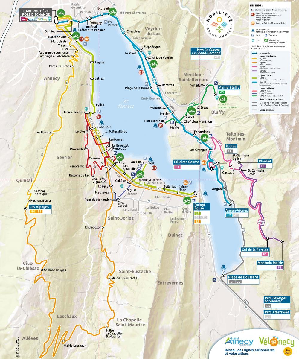 Plan Vélostation - Vélonecy 60 minutes