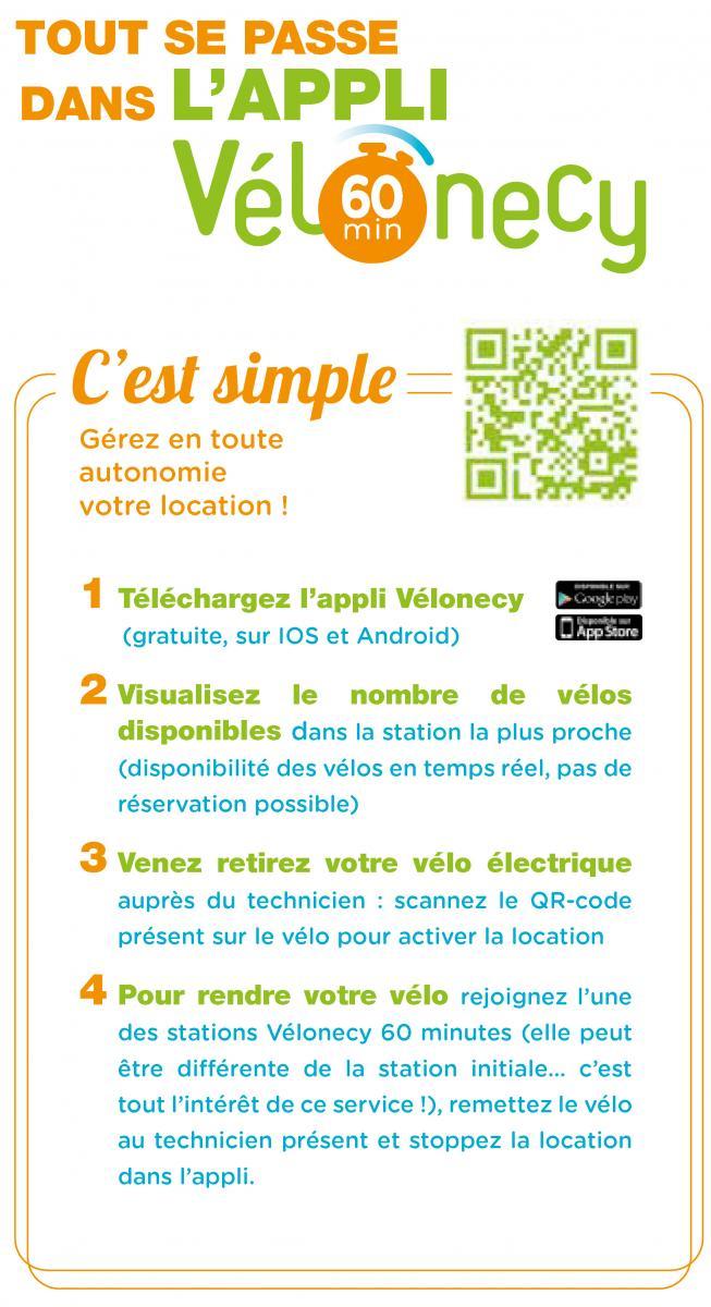 Fonctionnement application Vélonecy 60 minutes